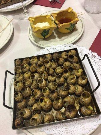 Sant Marti de Llemena, Spain: cargols!!!! delicious!
