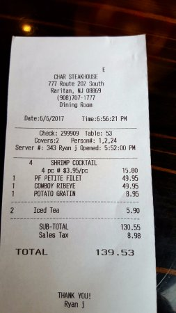 Raritan, NJ: Charged for refill of iced tea. At these prices, they can't refill at no cost???