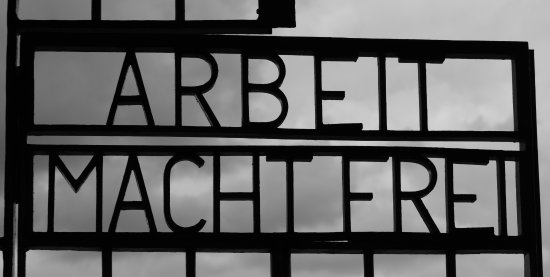 Sachsenhausen Concentration Camp: The too well known gate 'greeting'