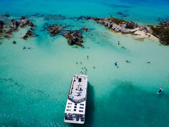 Hamilton, Bermuda: Ariel view of the Sightseeing and Snorkel Tour.