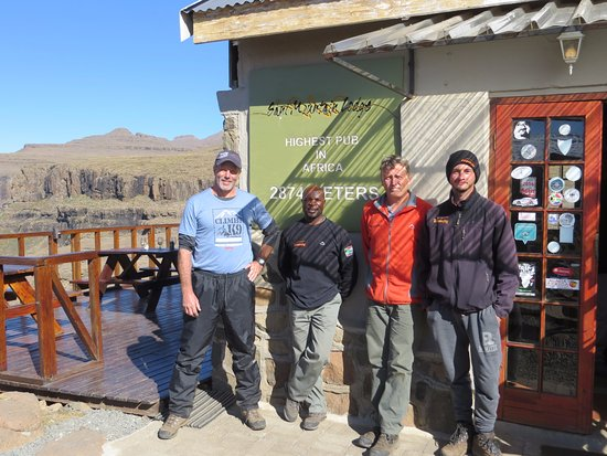 Sani Pass, Lesotho: The views from the terrasse are stunning