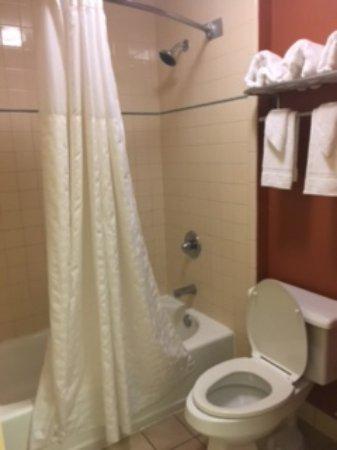 Econo Lodge Inn & Suites: Toilet and Tub