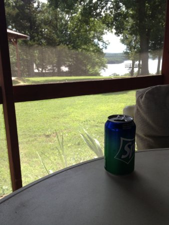 Gamaliel, AR: View from screened in porch on Cabin 4.