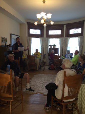 Meyersdale, PA: Team meeting before the ride
