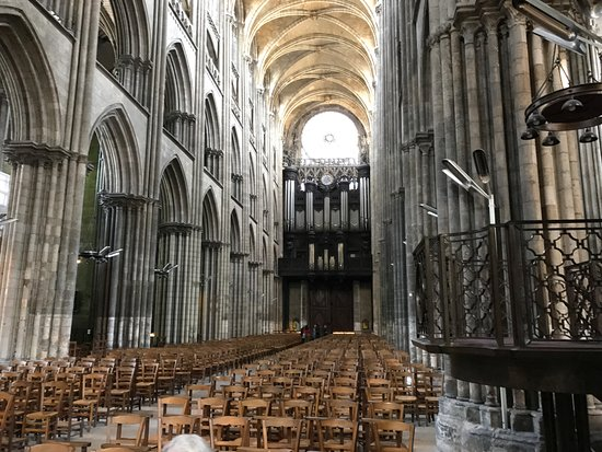 the interior organ of the cathedrale notre dame de rouen picture of cathedrale notre dame de. Black Bedroom Furniture Sets. Home Design Ideas