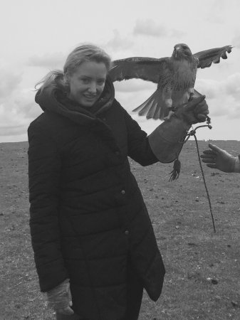 Julianstown, Ireland: My son and I in county Meath with Newgrange Falconry June 2017.