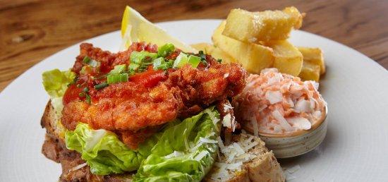 Scalby, UK: Northern Fried Chicken Open Sandwich