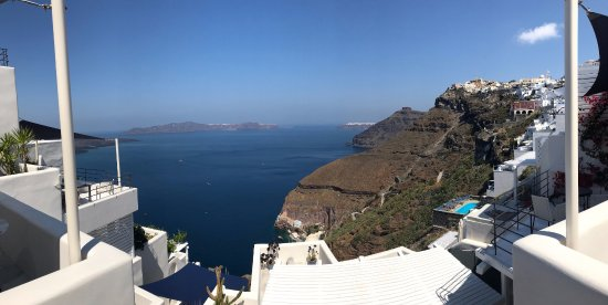 Porto Fira Suites: View from Porto Fira reception