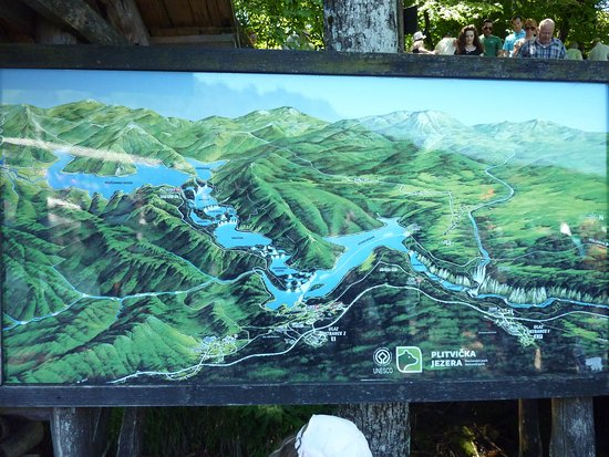 Map Plitvice National Park  Picture of Plitvice Lakes National