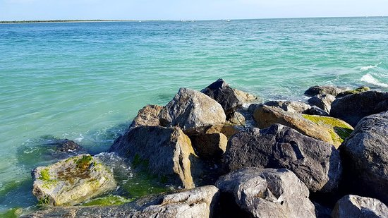 Sea glass waters by the Port Boca Grande Lighthouse