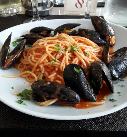 Seveso, Italy: Menù di lavoro: spaghetti con le cozze
