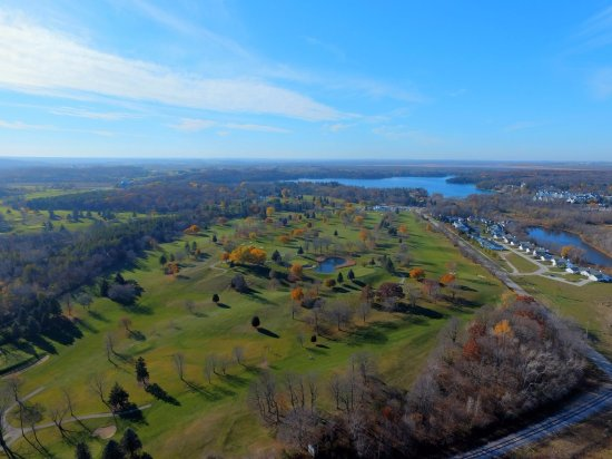 Elkhart Lake, WI: Drone photo late fall 2016