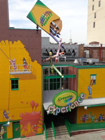 Crayola Experience- Side Entrance, View from Parking Garage