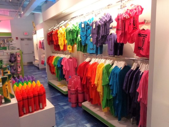 Crayola Experience, Colorful Gift Shop items