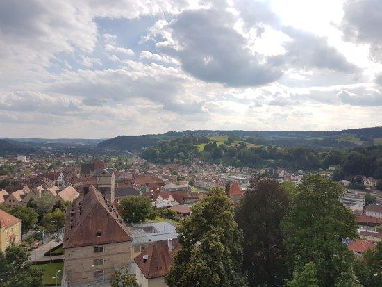 Festung Rosenberg - Deutsches Festungsmuseum: Wunderschöner Ausblick von der Festung Rosenberg auf Kronach