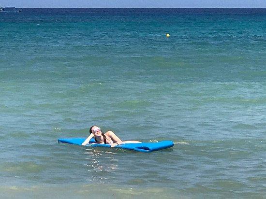 Nachi Cocom Beach Club Water Sport Center Daugher On Floating Mat