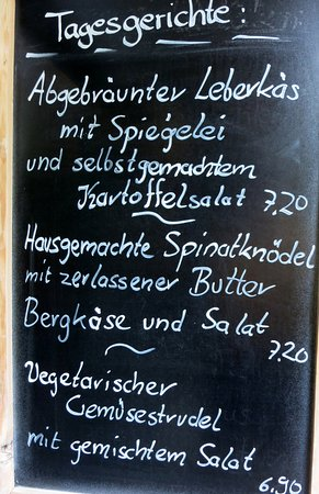 Grossweil, Alemania: Starkerer Menue - specials of the day