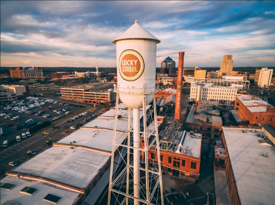 Durham, NC: Lucky Strike Tower at American Tobacco; the former factory is now a live, work, play destination