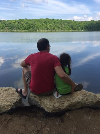 Edgerton, WI: Papa and his Angel fishing on Rice lake.