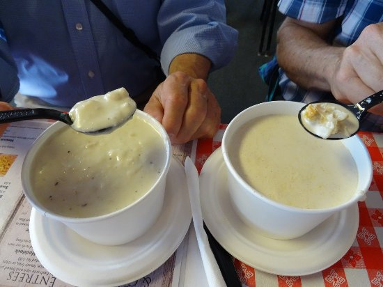 Newick's Lobster House: Thick vs Original Clam Chowder Challenge - is there really any competition?!