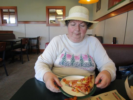 Somerset, MA: That is me eating our pizza.