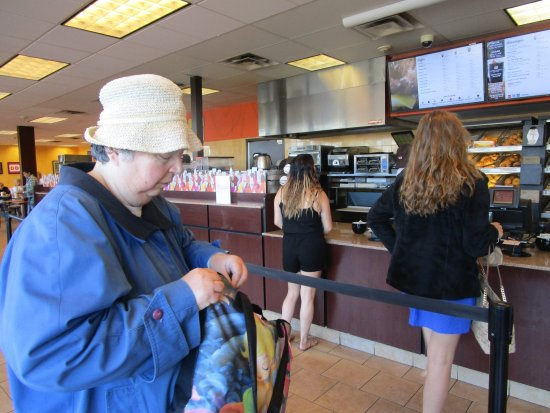 That is me at Dunkin Donuts Cranston, R.I.