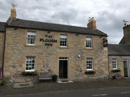 ‪‪Coldstream‬, UK: Our newly restored and repointed stonework and new signage - Jun17‬