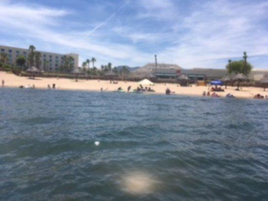 Avi Resort & Casino: river view of Avi beach