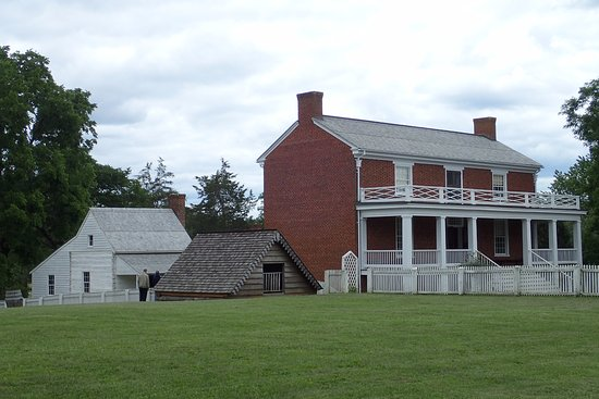 Appomattox, VA: The McLean House with outbuildings