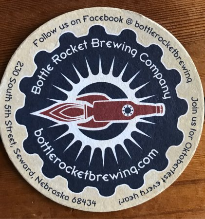 Seward, NE: Love the Bottle Rocket design and if you turn the pub coaster over, you can record what you had