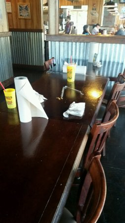 Brentwood, CA: The place is a mess; tables dirty, windows filthy, floor a mess.