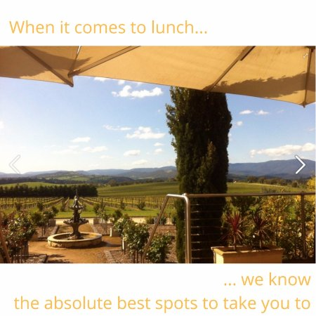 Healesville, Australien: Want to include lunch with a view on your tour?  Just let us know and we'll arrange that