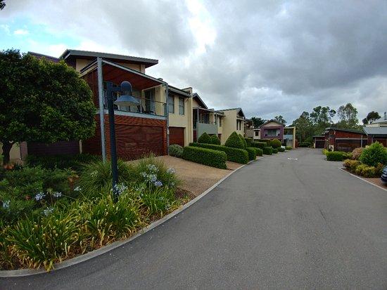 Rothbury, Australia: Driveway leading to each room