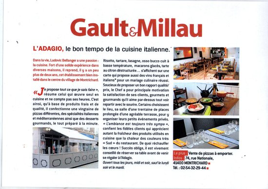 Montrichard, France : Gault&Millau