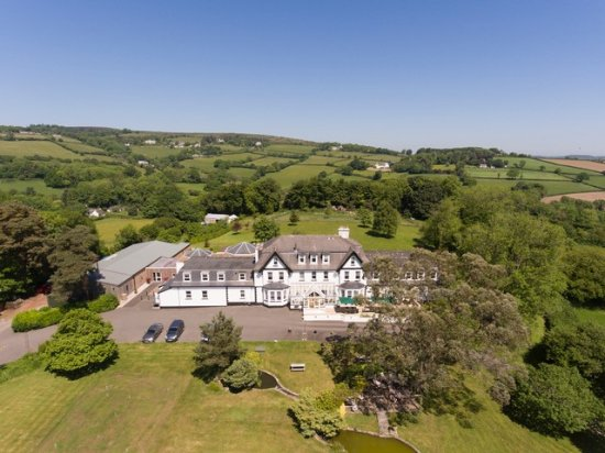 Ilsington, UK : Aeriel shot of hotel