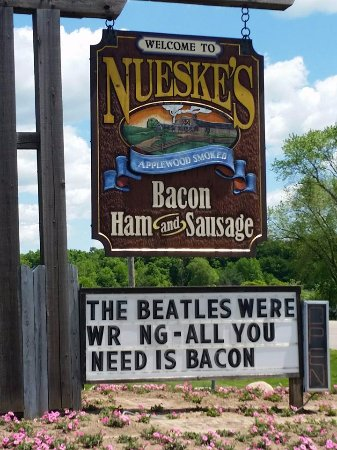 Wittenberg, WI: This is the sign of bacon mecca.