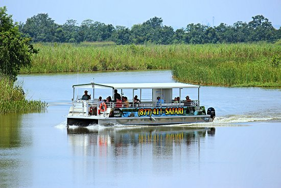 """Spanish Fort, AL: The """"Osprey"""" cruising the calm waters of the Delta."""