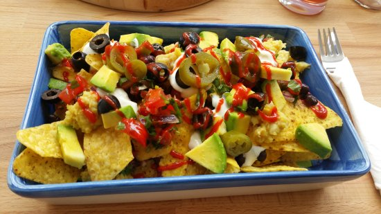 Honiton, UK: Large Nachos, now a permanent fixture on the menu.