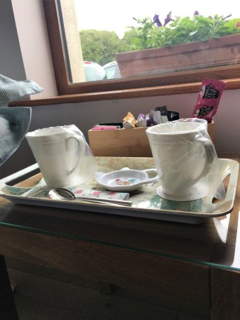 Greyabbey, UK: the tea/coffee choice is second to none