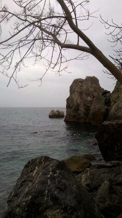 Hurzuf: Скалы на берегу, где расположена дача А.П.Чехова.