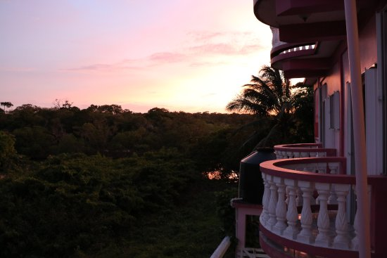 Punta Gorda, Belize: view from our balcony at sunset