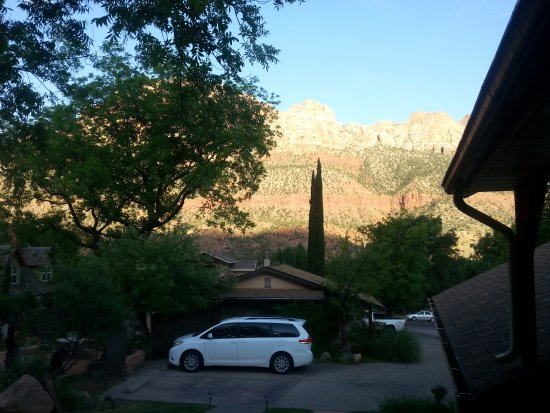 view from porch of cabin 2 of red rock inn picture of. Black Bedroom Furniture Sets. Home Design Ideas