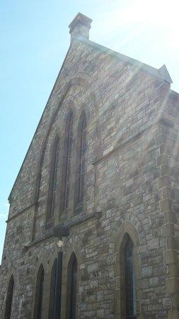 Trinity Church: sun beams stroking the church