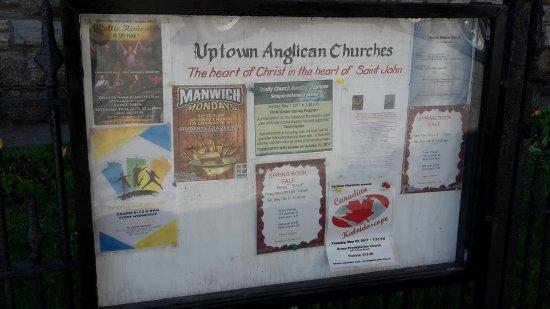 Trinity Church: information board