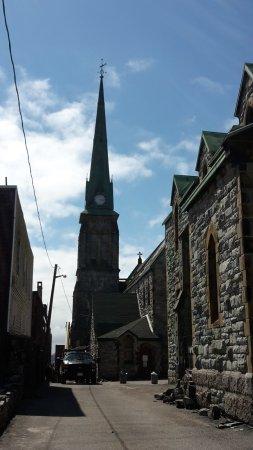 Trinity Church: church tower with spire