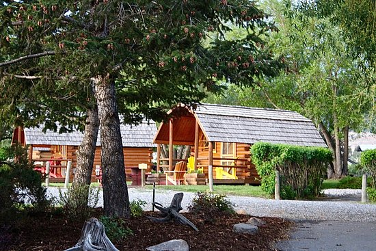 Butte, MT: Don't have a camper or a tent? No problem! Come stay in one of our rustic cabins!