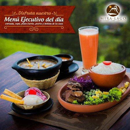 San Pablo Del Lago, Ecuador: Tenemos deliciosos almuerzos todos los dias!