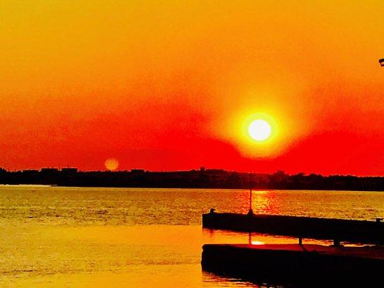 Pounta, Greece: Magic Sunset in THEA Restaurant, Wine Club and Sunset Bar