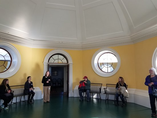 Monticello Dome Room Tour Group Picture Of Thomas Jeffersons