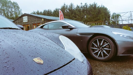 Llandovery, UK: A damp squib of a summers day but still nice toys in the car park